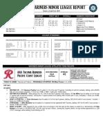 04.25.18 Mariners Minor League Report