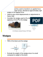 Wedge and Belt Friction