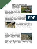 Contaminación de Ríos y Lagos en Guatemala