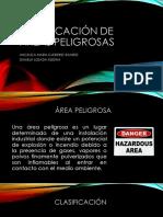 CLASIFICACION DE AREAS PELIGROSAS