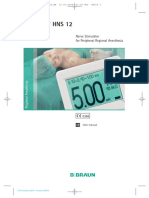 Estimuladores Eléctricos de Nervios B Braun Stimuplex Hns12 Manual de Usuario