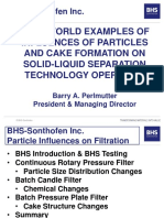 REAL WORLD Examples of Influences of Particles and Cake Formation on SOLID-Liquid Separation Technology Operation