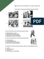 Evaluacion Derechos y deberes 5°
