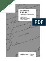 SARMIENTO, Domingo F., Educaci+¦n Popular, Introducci+¦n