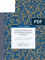 Michele Acuto, Simon Curtis Eds. Reassembling International Theory Assemblage Thinking and International Relations