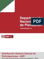1. Distribución Sistema General de Participaciones -SGP