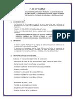 Plan de Trabajo Instalaciones Eléctricas