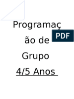 Programação de Grupo 4 e 5 anos