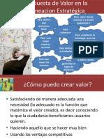 Propuesta de Valor en La Planeacion Estrategica