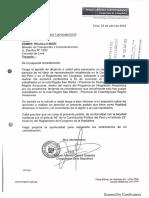 Oficio al Ministerio de Transportes