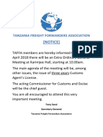 Tanzania Freight Forwarders Association meeting