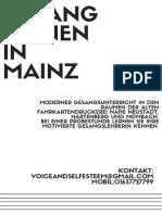 Gesang Lernen in Mainz