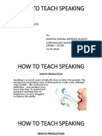 u3 Forum 8 - How to Teach Speaking