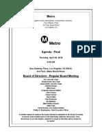 Agenda April 2018 Metro Board of Directors