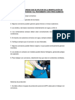 Normas de Seguridad Que Se Aplican en La Manipulación de Sustancias Corrosivas y El Tratamiento Con Otros Químicos