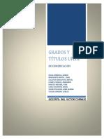 Grados y Títulos Documentacion