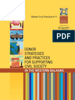 Balkan Civic Practices 11 Donor Strategies