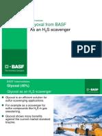 BASF Glyoxal as an H2S Scavenger