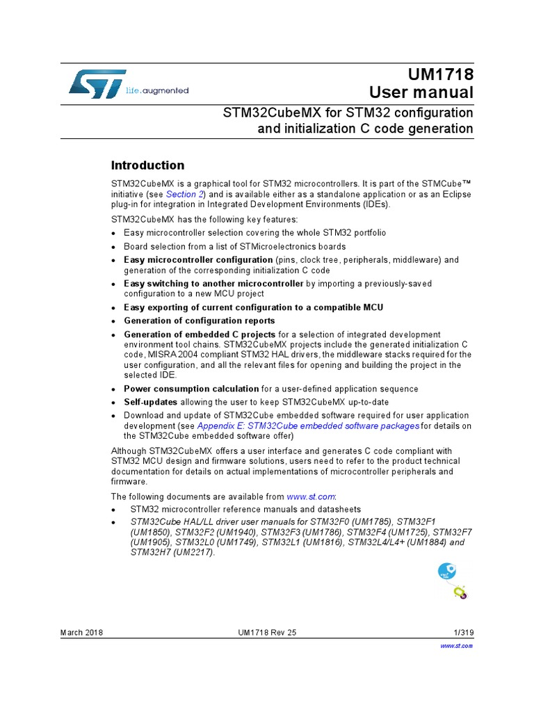 STM32CubeMX Documentation | Microcontroller | Electrical