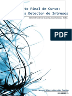 Documentación Proyecto Fin de Curso - Sistema Detector de Instusos