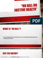 RH BILL or Reproductive Health