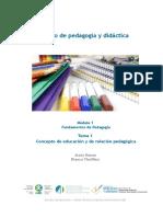 Concepto de Educación y de Relación Pedagógica