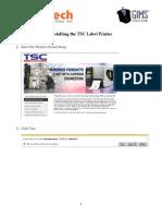 TSC Monarch Label Printer Installation Guide