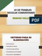 Plan de Trabajo Escolar Comunitario Ppt