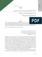 Normatividade vital - saúde e doença a partir de Canguilhem.pdf