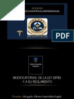 MODIFICATORIA A LA LEY 29783 a ley 30222 ACT.ppt