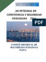 Plan Distrital de Seguridad Ciudadana Actualizado Paita 2016