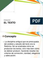 EL TEXTO...