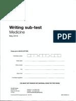 Writing May 2015