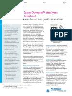 Kaiser Optograf™ Analyzer Datasheet
