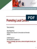 UNESCO - Local Content