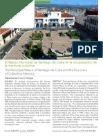 El Palacio Municipal de Santiago de Cuba en la recuperación de la memoria colectiva.