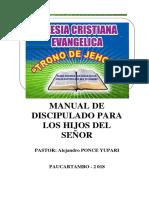 Discipulado Trono de Jehová - Pastor Alejandro Ponce Yupari