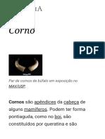 Corno – Wikipédia, A Enciclopédia Livre
