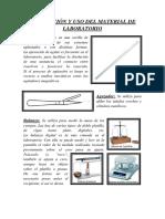 DESCRIPCIÓN Y USO DEL MATERIAL DE LABORATORIO.docx