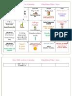 May 2018 Activity Calendar