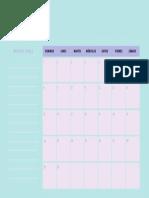 Pastel 2018 Monthly Calendar