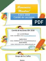 Comité de Lecciones 2018-Línea Temática EBV