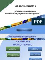 El Marco Teórico como elemento estructural del proyecto de investigación