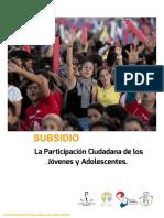 SUBSIDIO PARTICIPACION CIUDADANA
