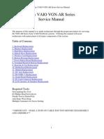Sony VAIO VGN-AR Series Service Manual