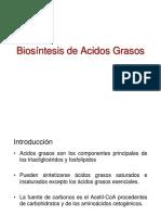 Biosíntesis de Acidos Grasos