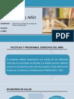 Políticas y Programas de los Derechos del Niño y Adolescente