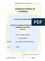 Modelo de Informe Geologia