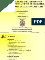 Solar Distillation Dissertation