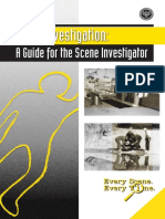 Death Investigation a Guide for the Scene Investigator